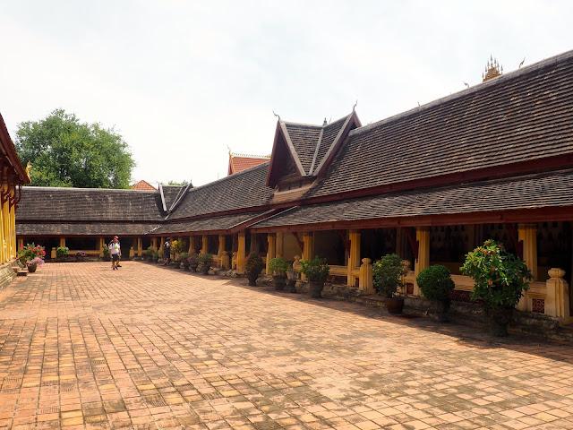 Courtyard of Wat Sisaket, Vientiane, Laos