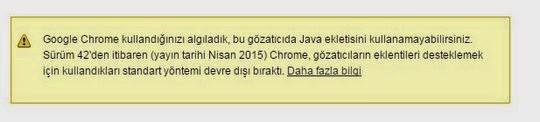 Chrome+Bu+eklenti+desteklenmiyor hatası