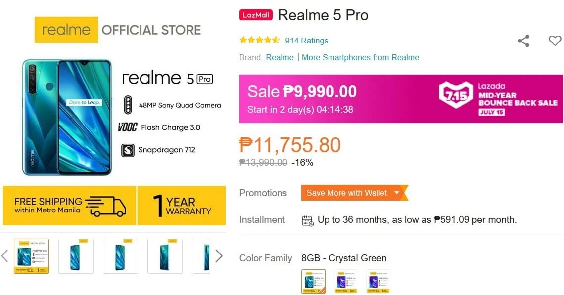 Deal Alert: realme 5 Pro will be on SALE this July 15 for Only Php9,990