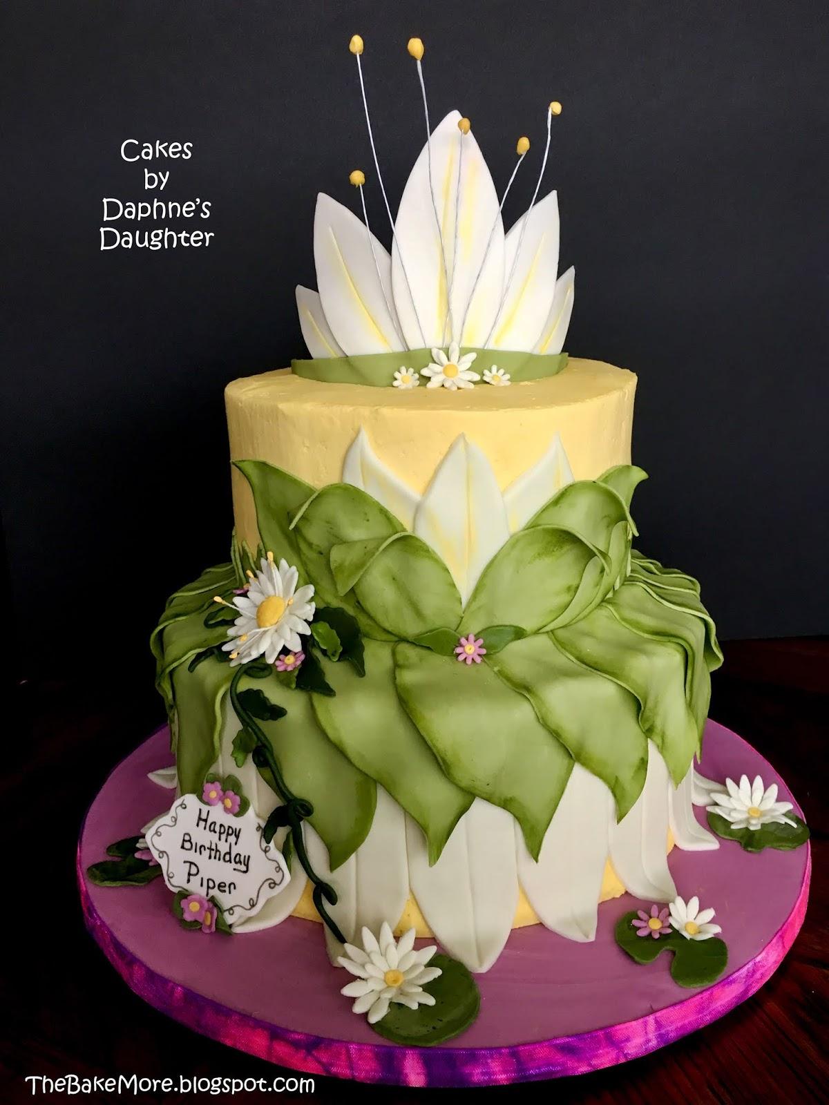 Fantastic The Bake More Princess Tianas Dress In Cake Form Funny Birthday Cards Online Elaedamsfinfo