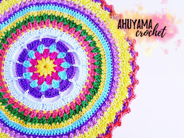 imagen mandala grande ahuyama crochet