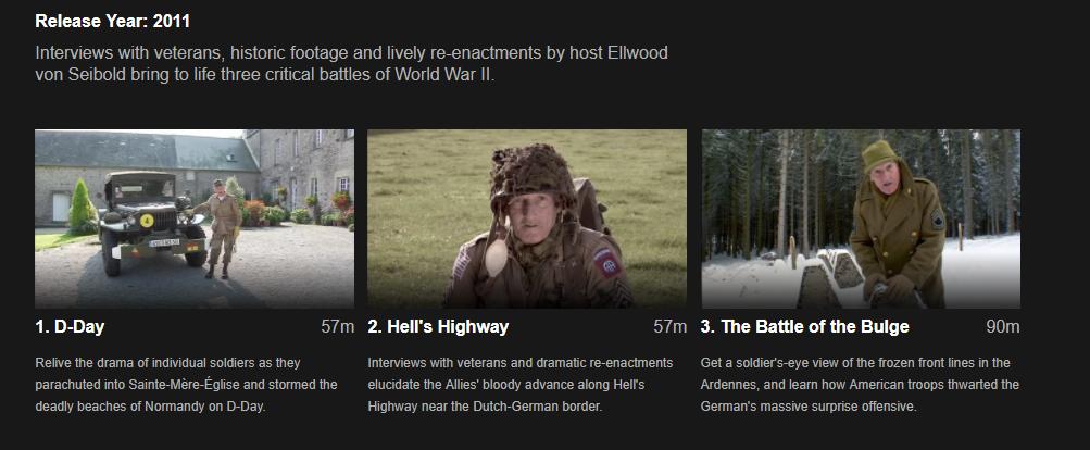 Geordie's Big Battles: Netflix: Road to Victory - US Army in Europe
