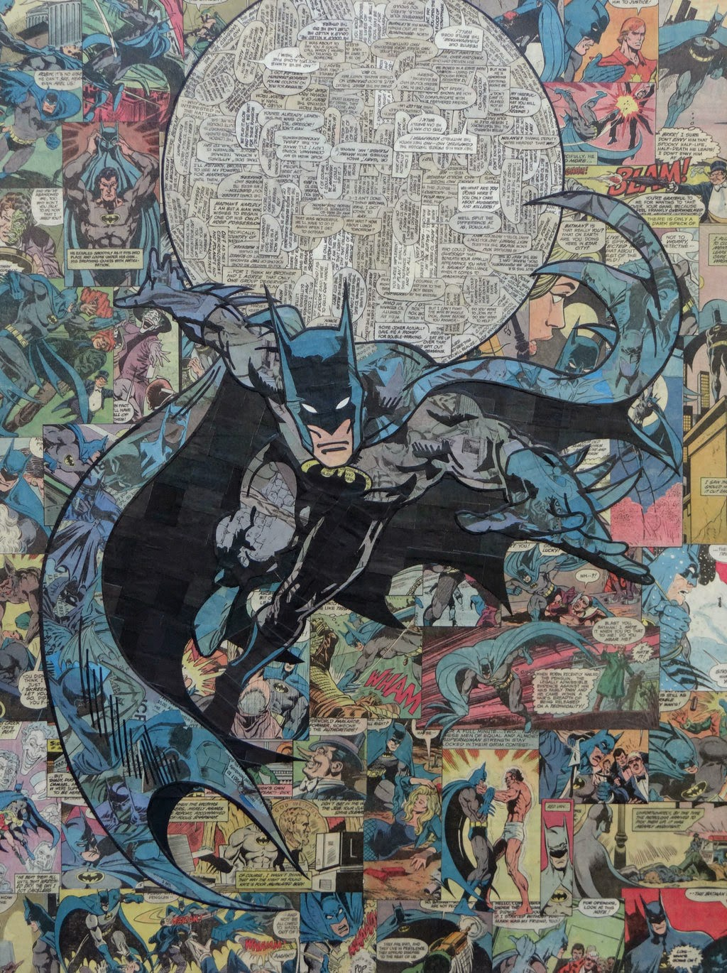 01-Batman-Mike-Alcantara-Comic-Collage-Art-www-designstack-co