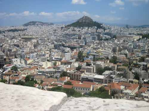 Lycabettus Hill From The Acropolis