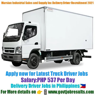 Marsian Industrial Sales and Supply Inc Delivery Driver Recruitment 2021-22