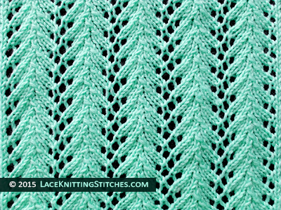 Lace Knitting. #14 Fern Lace stitch. Skill: Easy
