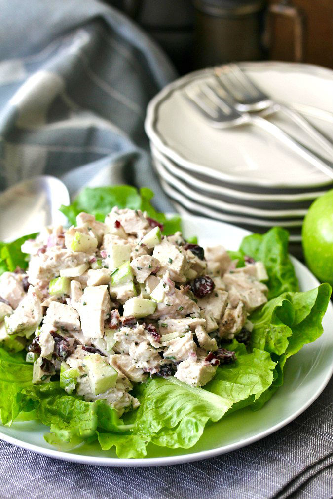 Chicken Salad with Apples, Cranberries, and Pecans