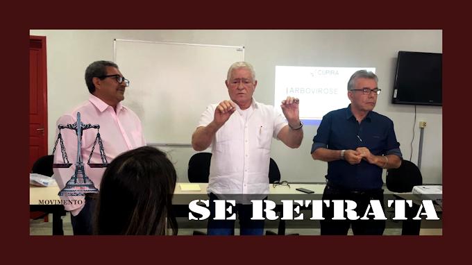 PREFEITO DE CUPIRA SE RETRATA COM CONCURSADOS
