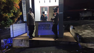 Polsek Anggeraja Melakukan Upaya Preventif Dalam Wujud Kegiatan Patroli Blue Light