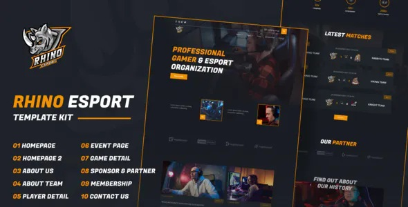 Best e-Sports Elementor Template Kit