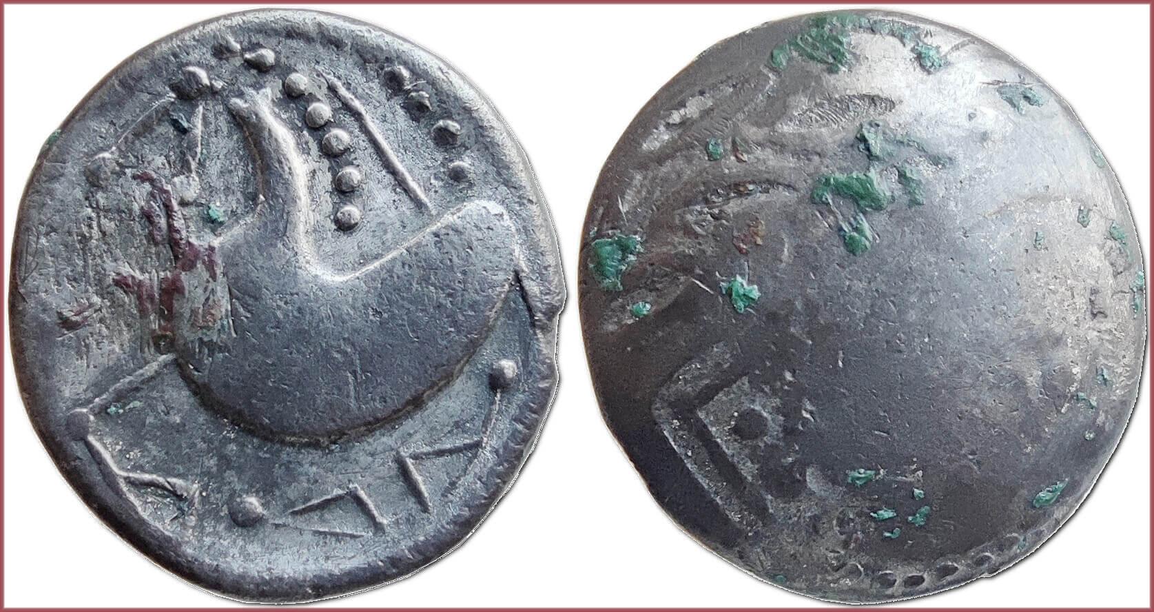 Celtic tetradrachm, 200-100 BC: tribes of celts in Carpathian region