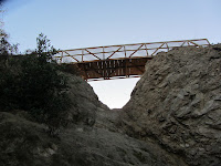 View of Hogback bridge from Vista Del Valle Drive