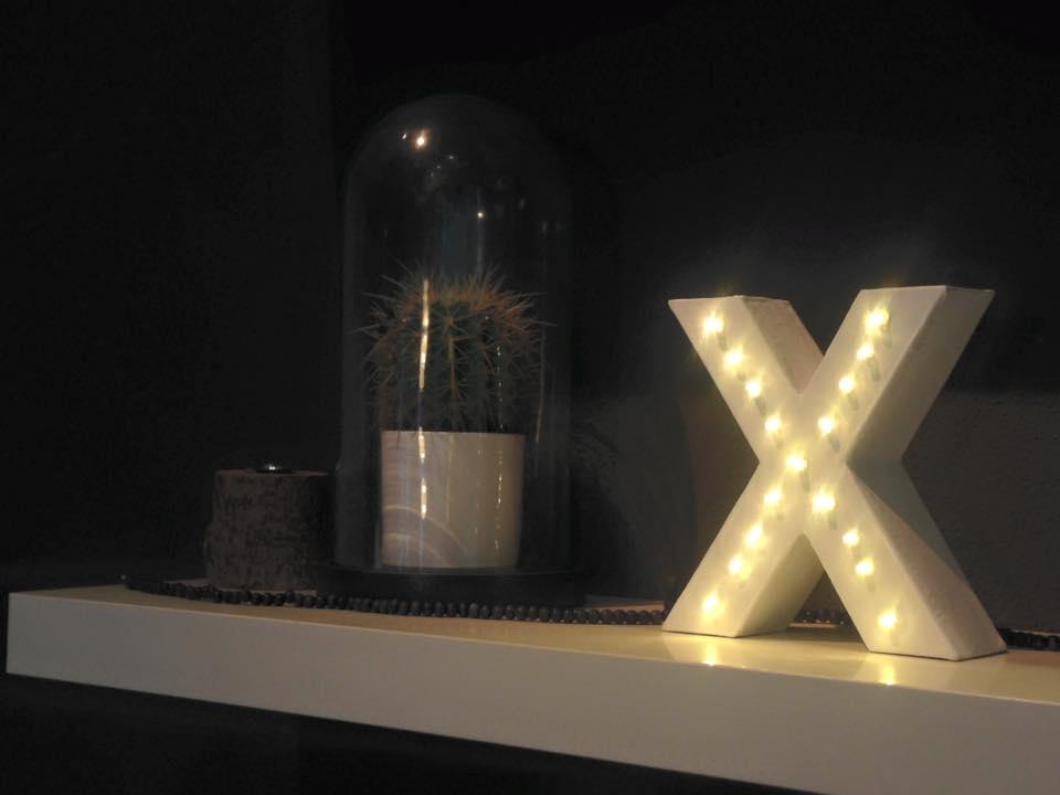 Letters Met Licht : Lisanna maria licht letter diy