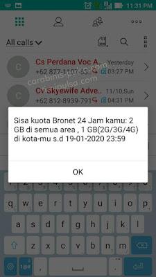 Jumlah Kuota Perdana Axis Bronet 2GB yang sebenarnya