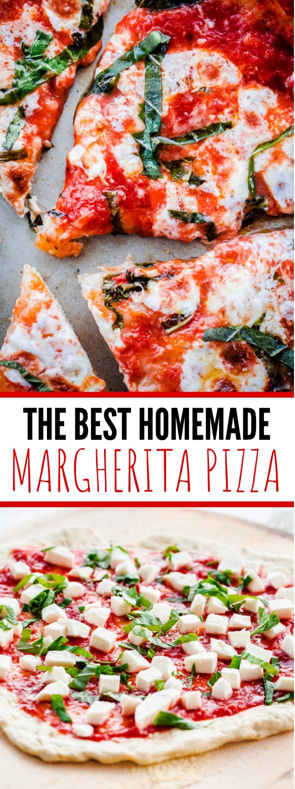 BEST HOMEMADE MARGHERITA PIZZA #dinner #vegetariandinner