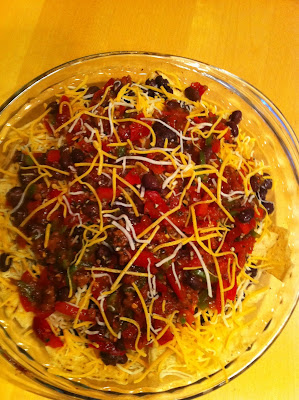 Nachos before the bake