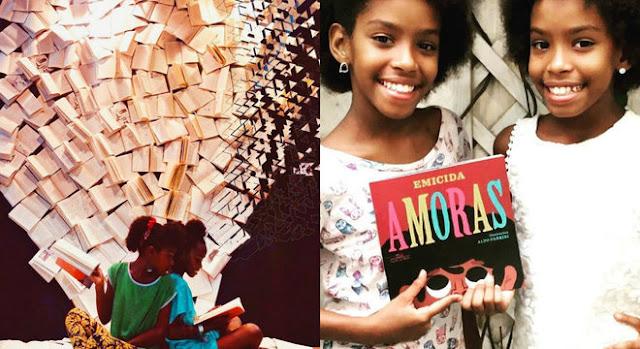 Gêmeas de 11 anos fundam projeto de leitura contra violência na favela