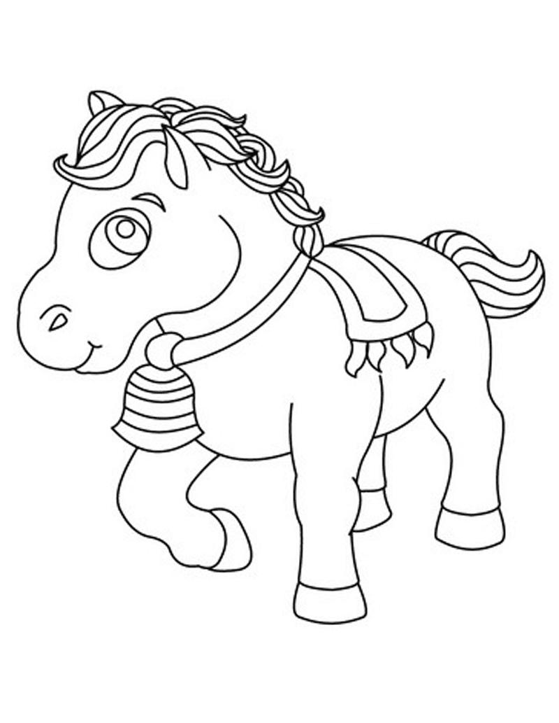 Gambar Mewarnai Kuda Poni 3