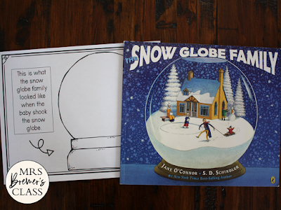 Snow Globe Family book study  literacy companion activities winter K-1