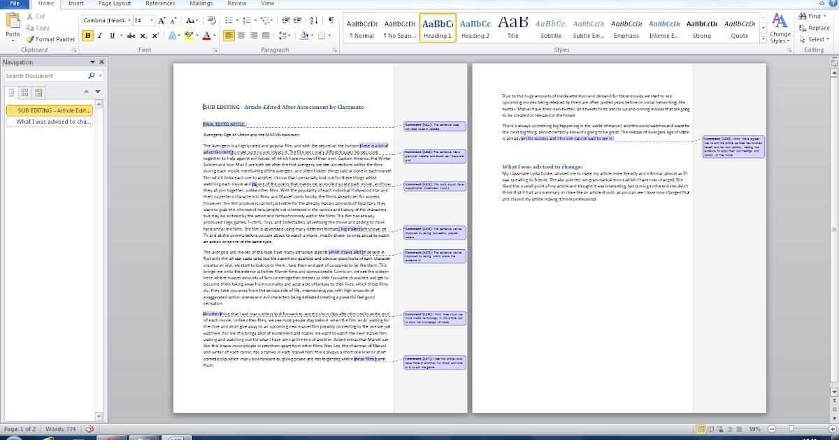 Unit 51 Page Layout & Design : PR 8 - Sub Edit An Article