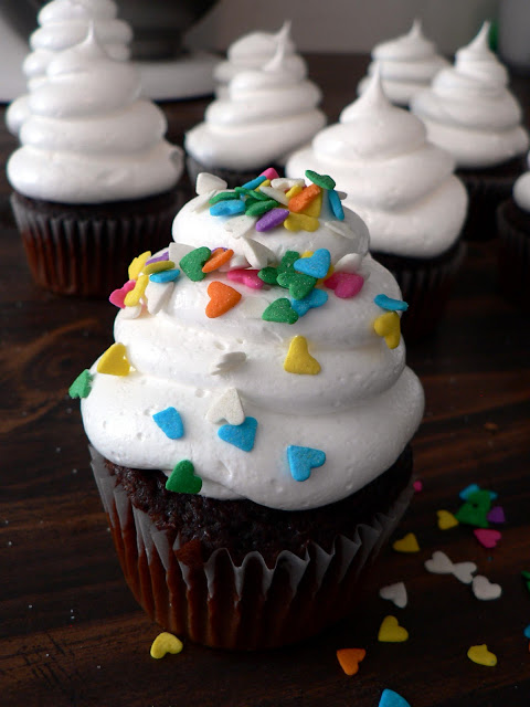 White cloud icing is Light and fluffy. No butter, no powdered sugar, dairy free.... and the best frosting you will every make! Pipes so easy, it's great for decorating cakes and cupcakes.