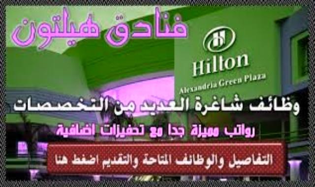 وظائف شاغرة  فندق هيلتون بالإمارات لعدد من التخصصات