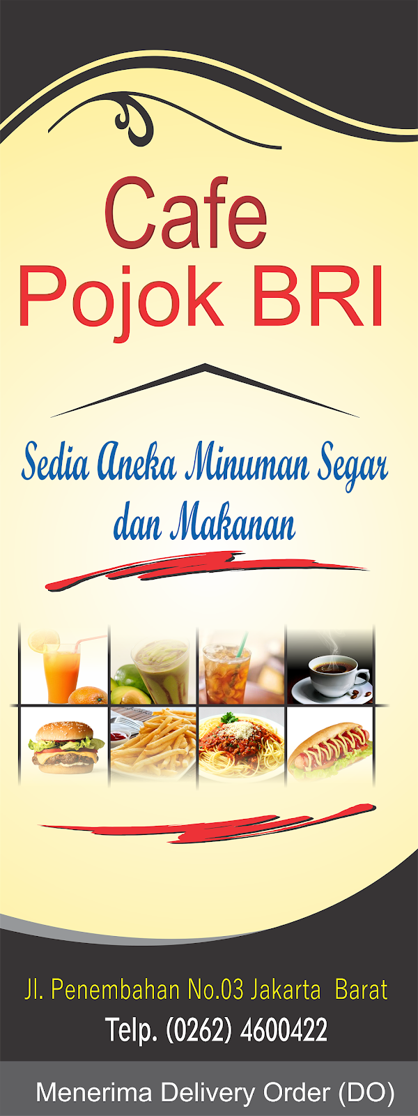 Desain X Banner Makanan Minuman - desain spanduk kreatif