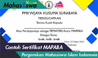 sertifikat mabapa pergerakan mahasiswa islam indonesia