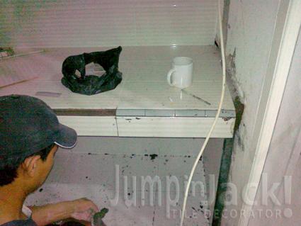 JumpinJack Memasang Keramik  Dinding dan Meja  Dapur  Part 2