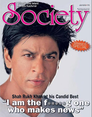 Shah Rukh Khan's Photo Shoot on the cover page of Society magazine July 2012