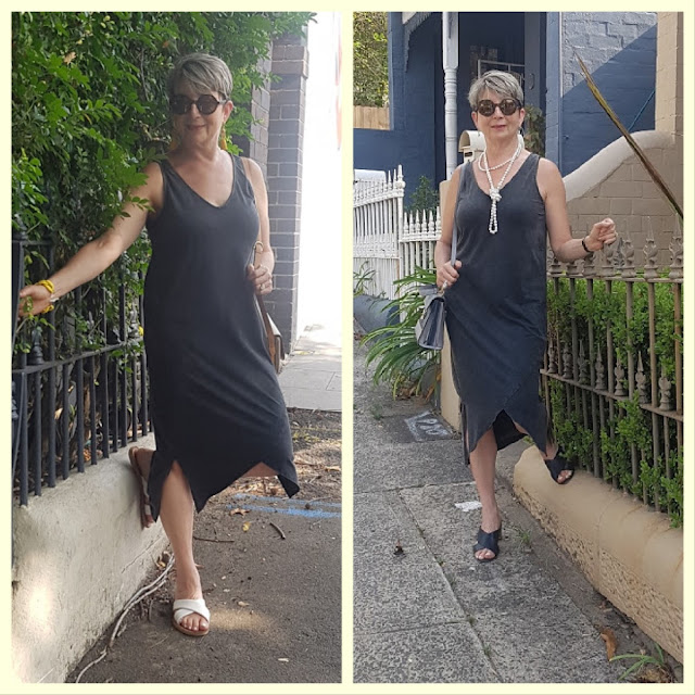 A SIMPLE LBD WORN TWO WAYS