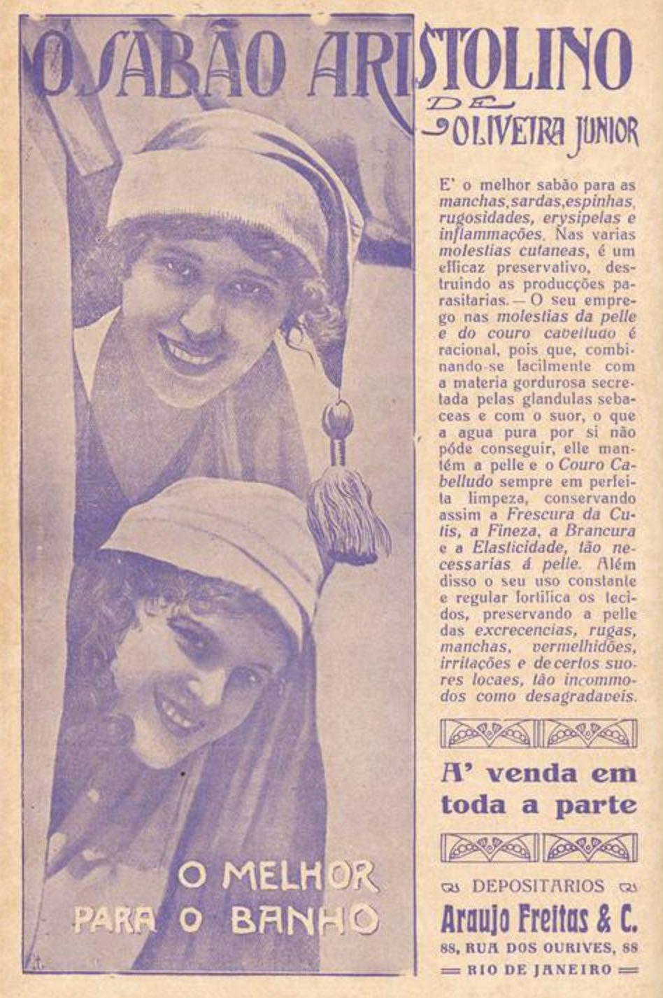 Anúncio antigo de 1923 do Sabão Aristolino