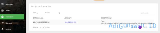 Deposit Bitcoin ke akun Ethconnect (ECH)