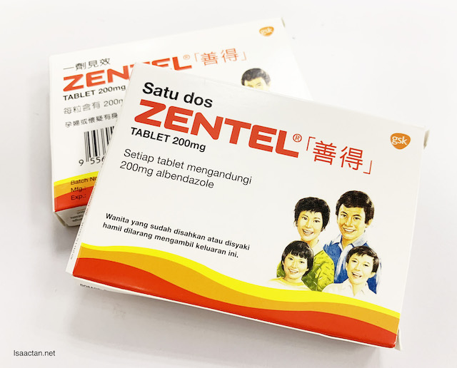 Introducing Zentel Tablets for easy De-worming for Kids