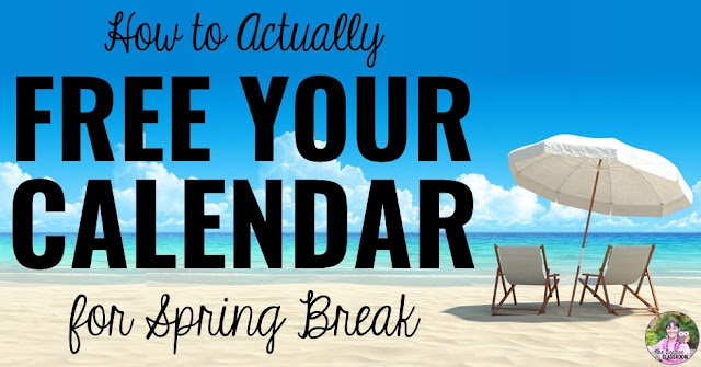 """Beach photo with text, """"How to Actually Free Your Calendar for Spring Break"""""""