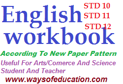 STD 10 TO 12 NEW COURSE ENGLISH WORKBOOK YEAR 2019