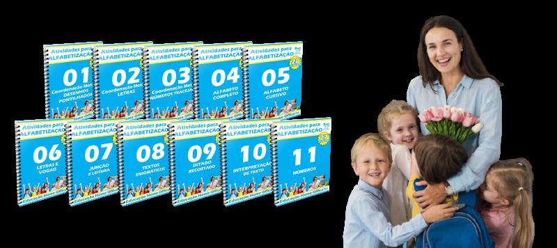 Educação Home Office - 11 apostilas com mais de 300 tividades.