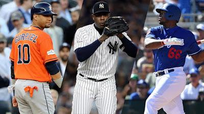Solo 2 de los 30 equipos de las Grandes Ligas están sin peloteros cubanos en su organización