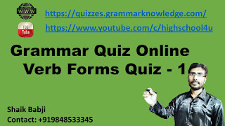 Grammar Quiz Online | Verb Forms Quiz