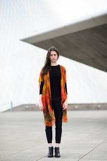 hand-dyed silk kimono