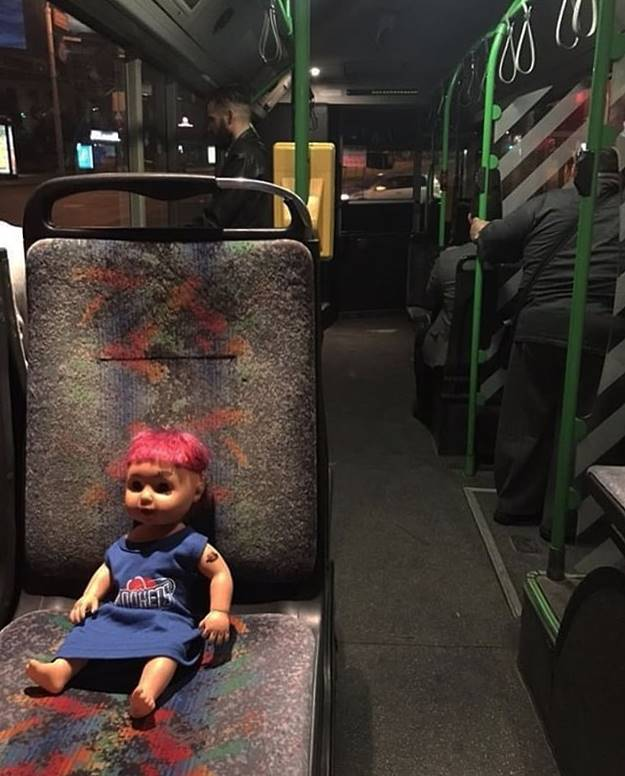 Another collection of photographs with unexpected passengers of public transport, which Internet users simply could not help but capture, which posted their photo evidence on a worldwide network.