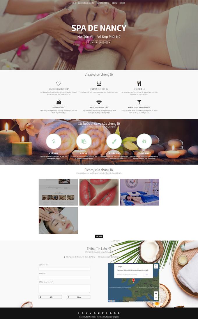 Mẫu website Spa đẹp
