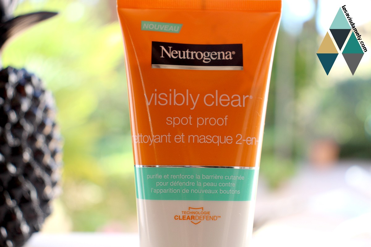 avis et test spot proof neutrogena visibly clear