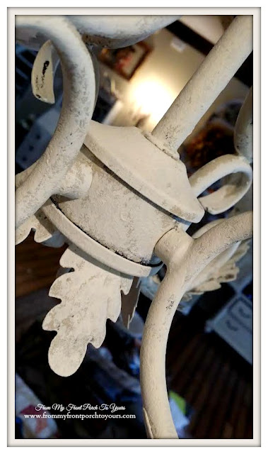French Chandelier Makeover-Annie Sloan-Chalk Paint- From My Front Porch To Yours