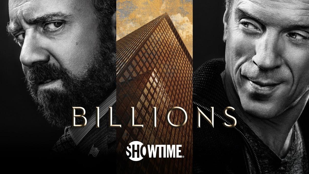 Póster de Billions, una serie de corrupción en Wall Street para Showtime