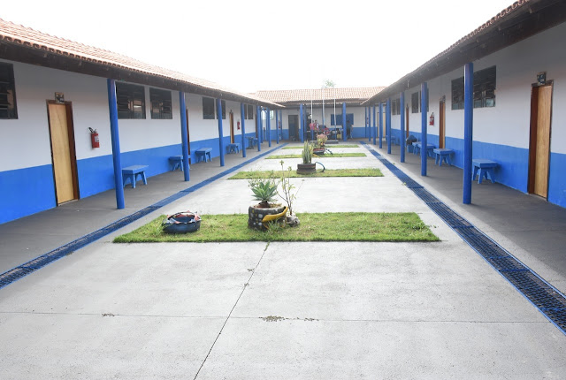 Escola Municipal Paulo Gontijo, que fica no Assentamento Vista Alegre, em Cristalina Goiás. Foto: Prefeitura de Cristalina.