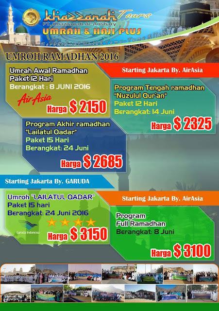 Harga Paket Umroh Murah Bulan Ramadhan 2016