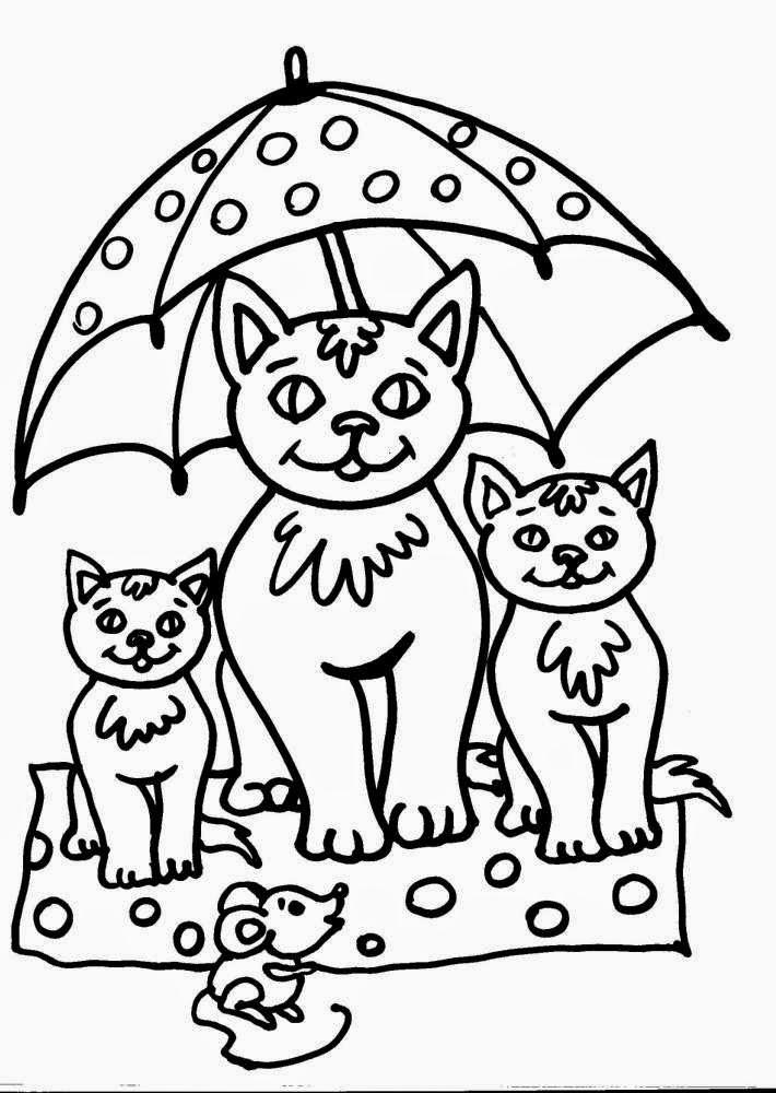 Disegni Di Gatti Da Colorare
