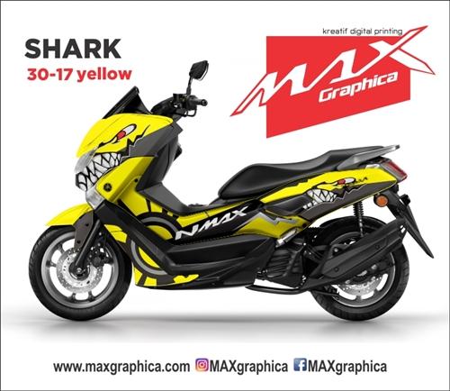 Stiker NMAX hiu desain suka-suka