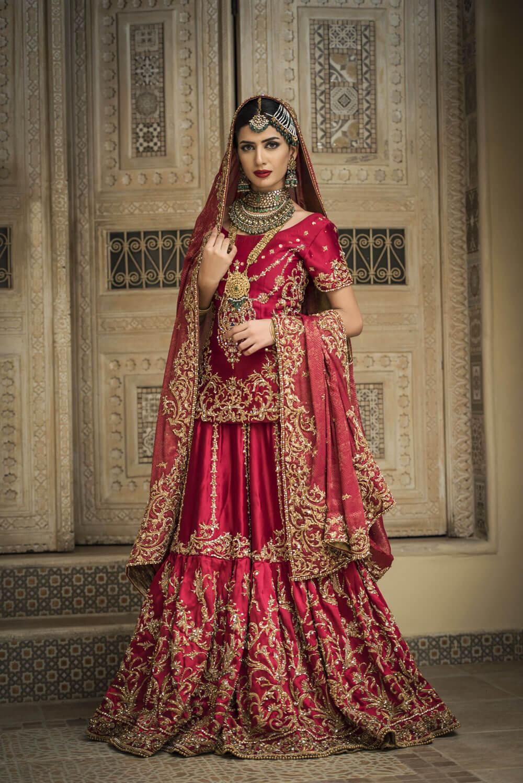 Barat Bridal Dress by Nilofer Shahid
